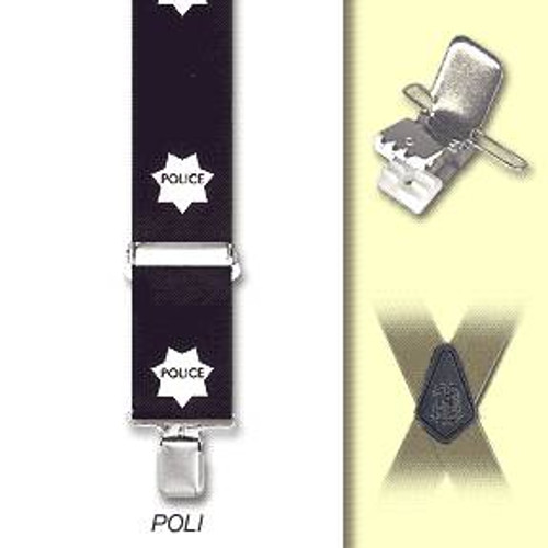 POLICE SUSPENDERS cop officer uniform worker halloween costume 48""
