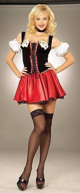 Vegas Casino Poker Sexy Womens Halloween Costume XS S