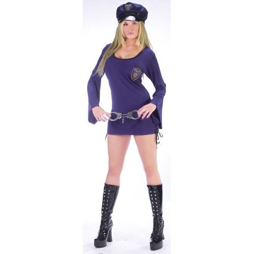 COP police woman sexy womens halloween costume S M