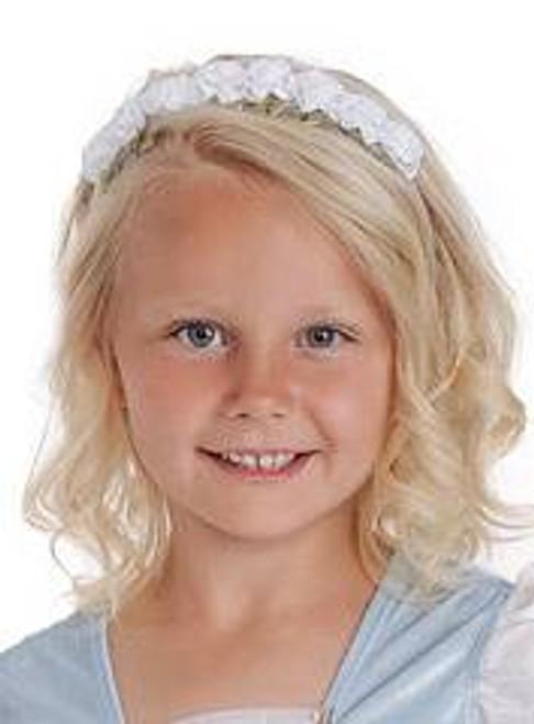 FLOWER HEADBAND WHITE princess girl girls kids costume