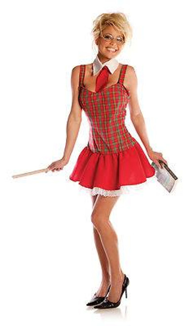 SCHOOLGIRL TEACHERS PET sexy adult halloween costume S