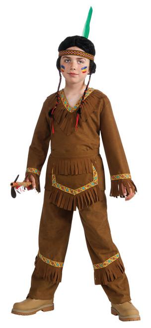 Brown Native American Indian Boy Non Native Costume