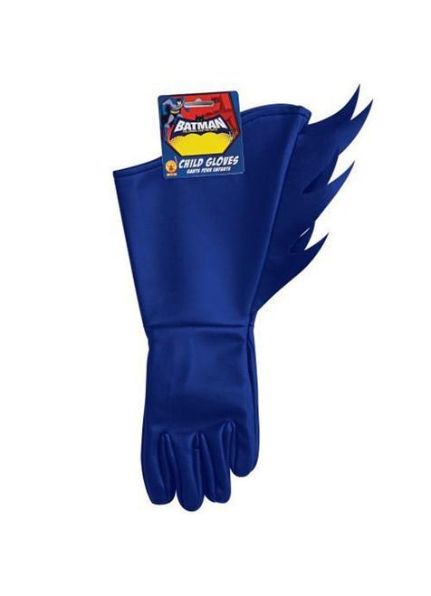 Batman Child Gloves Blue Gotham City Halloween Costume Accessory