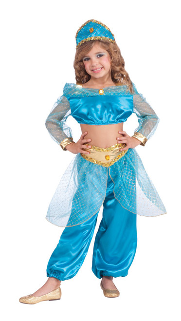 Girls Arabian Princess Jasmine Costume