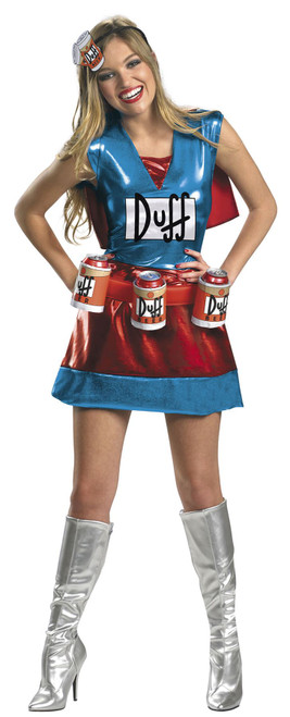 Duffwoman Officially Licensed The Simpsons Women's Halloween Costume