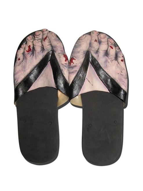Zombie Feet Slip On Sandals Mens Costume