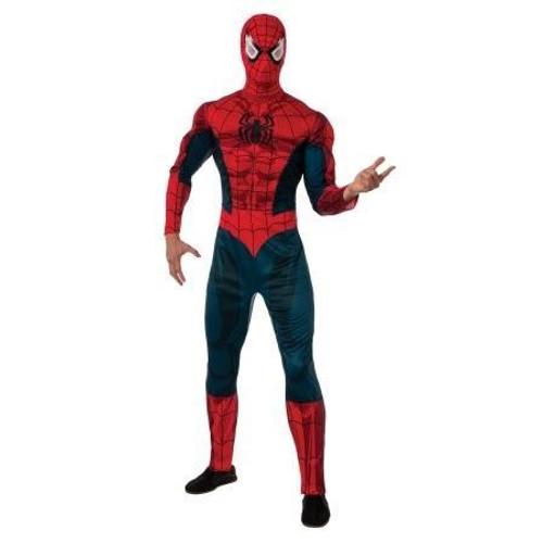 SPIDER-MAN classic mens retro comic character halloween costume
