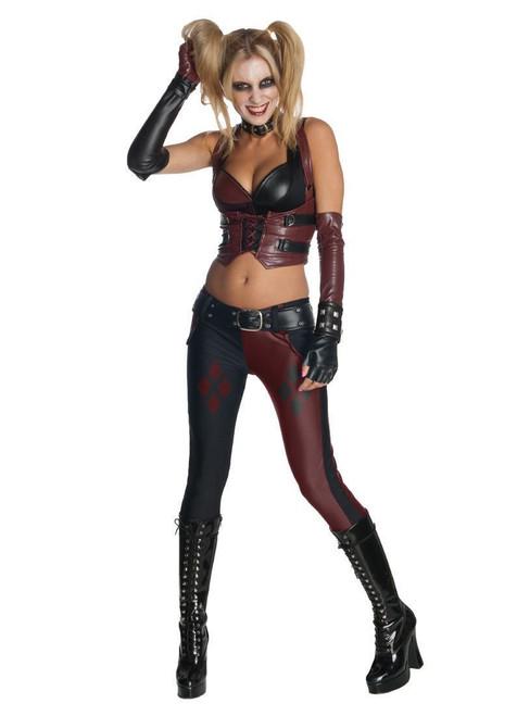 Batman Arkham City Harley Quinn sexy womens adult costume
