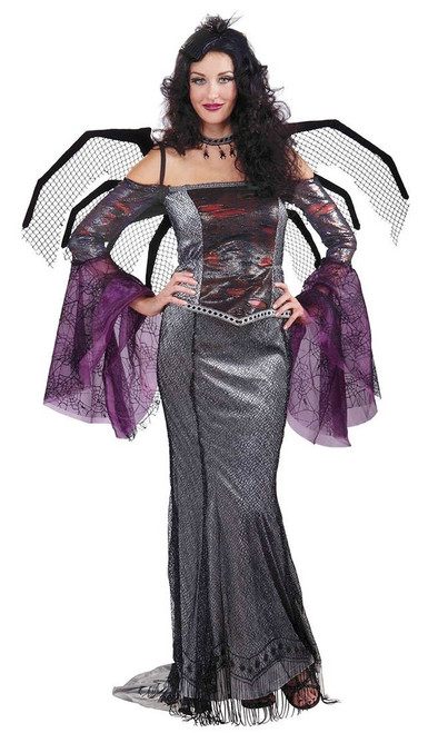 Designer Collection gothic Wicked Widow adult womens Halloween costume Large