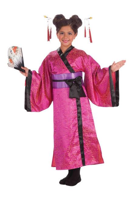 Geisha Japanese Dress kids girls Halloween costume