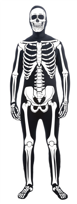 Disappearing Man Bone Suit Skeleton adult mens Halloween costume
