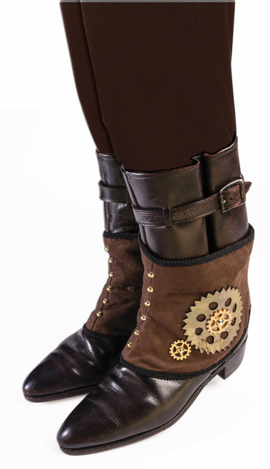 brown Steampunk Spats adult mens Halloween costume