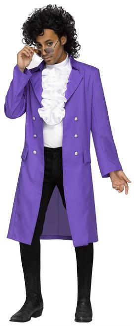 Rockin 80s Prince Purple Pain Rain Jacket Costume