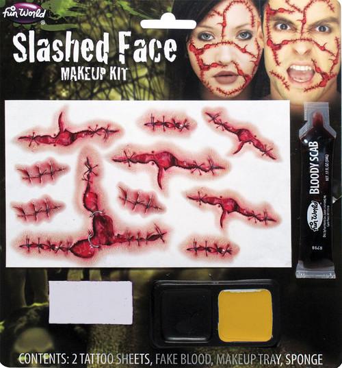 Slashed Face Stiches FX Prosthetic Makeup Kit