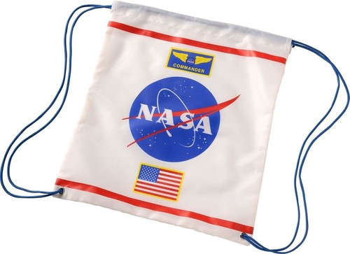 Kids White Astronaut Drawstring Backpack with NASA Logo Officially Licensed