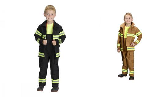 Jr. FIRE FIGHTER Fireman suit kids boys halloween costume