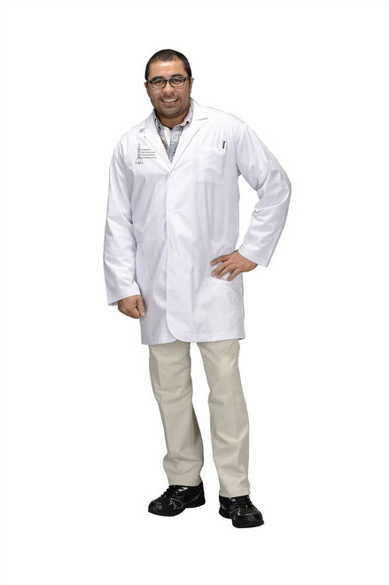 White STEM LAB COAT 3/4 Length Adult