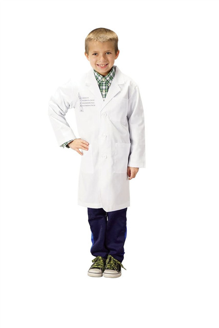 Jr. STEM LAB COAT White Child Science Technology Mathmatics Eingineering