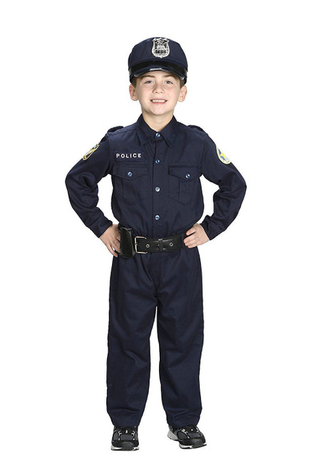 JR. POLICE OFFICER cop uniform suit halloween costume