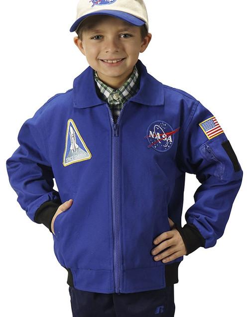 Jr. Flight Jacket NASA Blue Astronaut kids boys halloween costume Officially Licensed