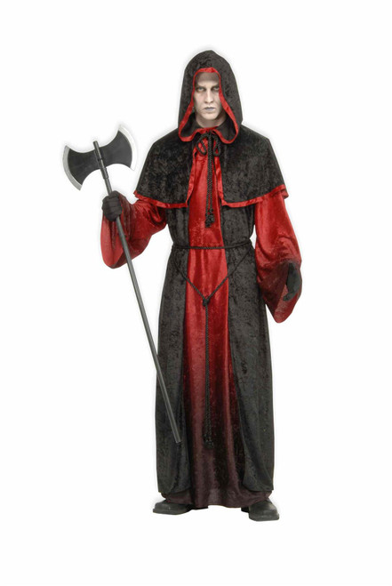 Demon Robe black devil reaper vampire executioner gothic satan halloween costume