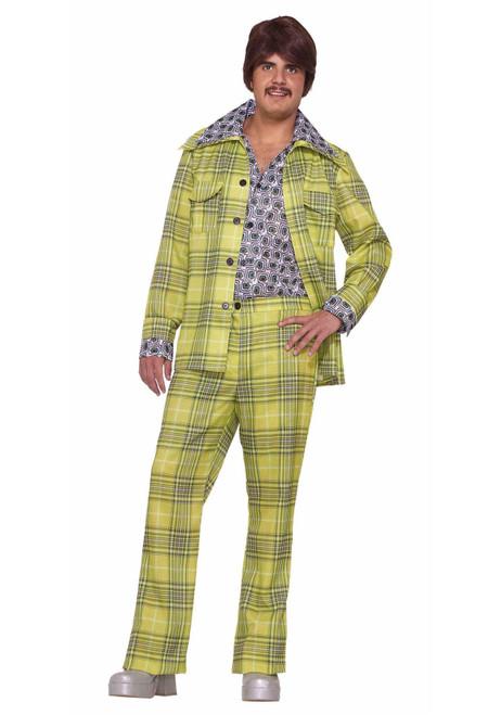 PLAID LEISURE SUIT 70s vintage jacket disco mens retro halloween costume