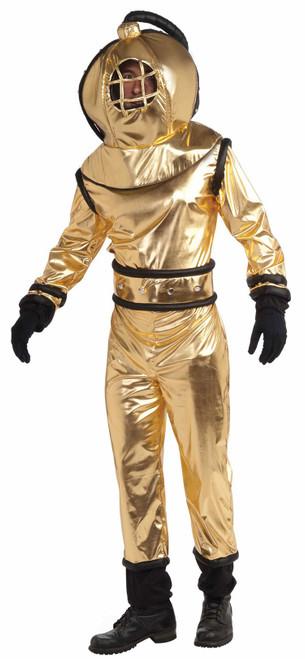 Deep Sea Diver nemo gold retro scuba dive adult leagues verne costume halloween