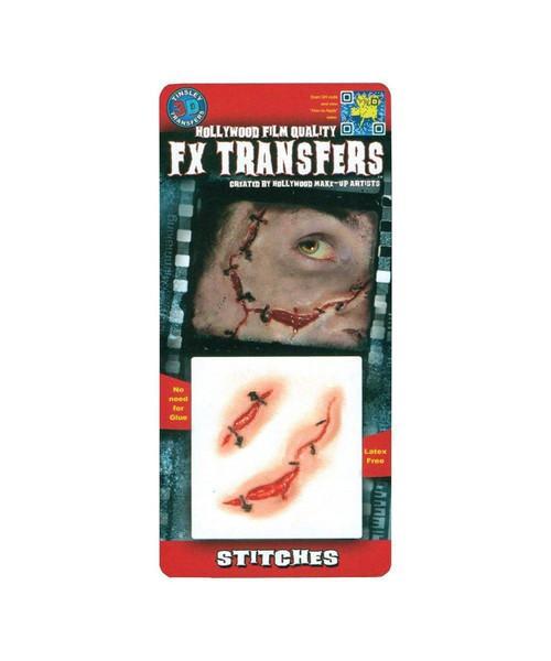 Stitches 3D Tattoo Tinsley Transfers
