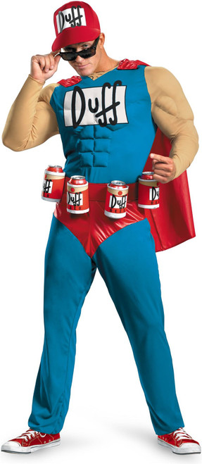 Duffman Muscle Classic Officially Licensed The Simpsons Adult Costume