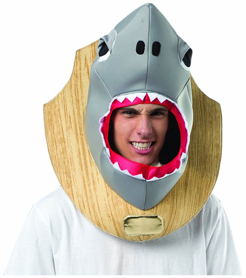 Shark Head Trophy Mens Costume One Size