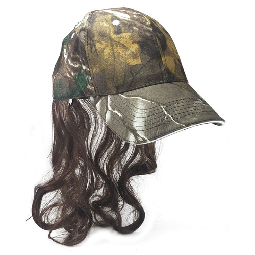 Billy Ray Mullet Camo Hat Mullet Wig redneck mens hillbilly halloween costume