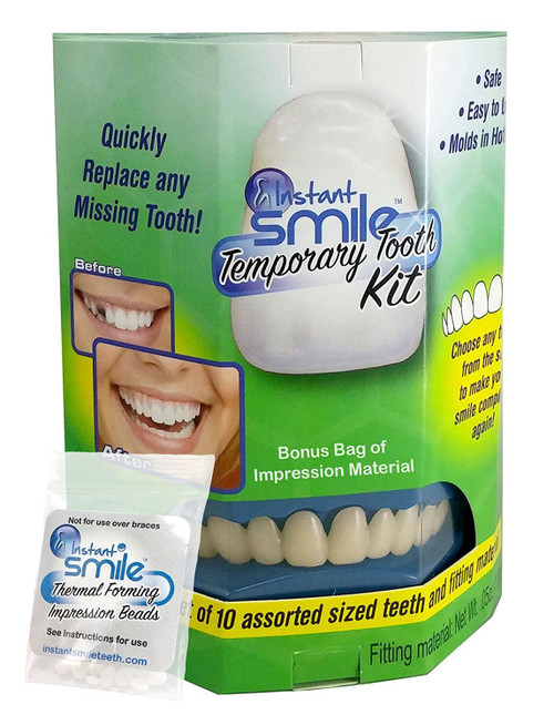 Instant Smile Temporary Tooth Kit Plus Bonus Bag of Thermal Beads