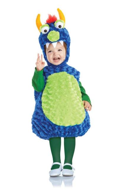 blue green MONSTER plush belly girls boys kids toddler halloween costume 4T-6T