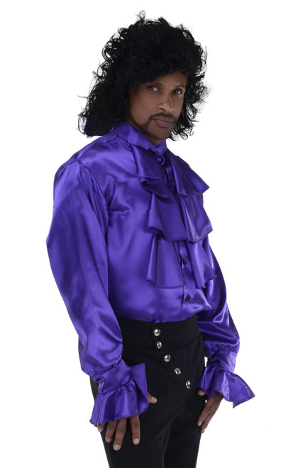 Purple Pop Star Shirt Prince Rock Adult Mens Halloween Costume