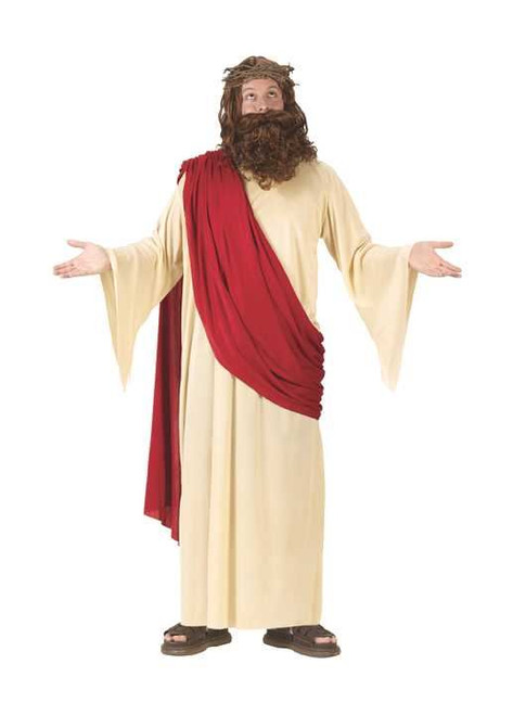 Adult Jesus Costume with Wig and Beard One Size
