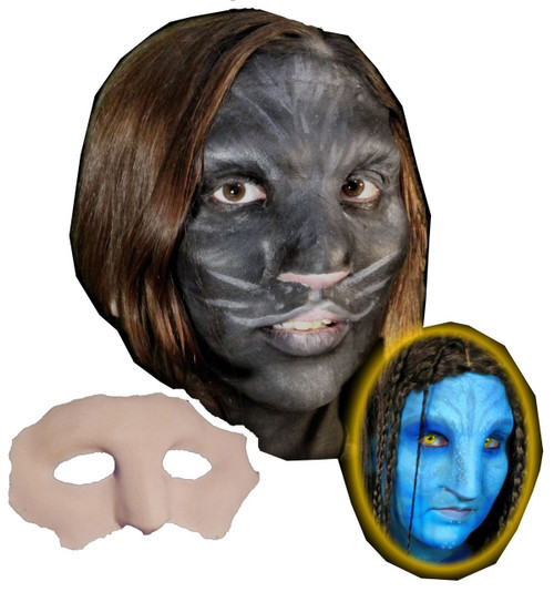 Native Cat Face Foam Latex Prosthetic Theater Appliance
