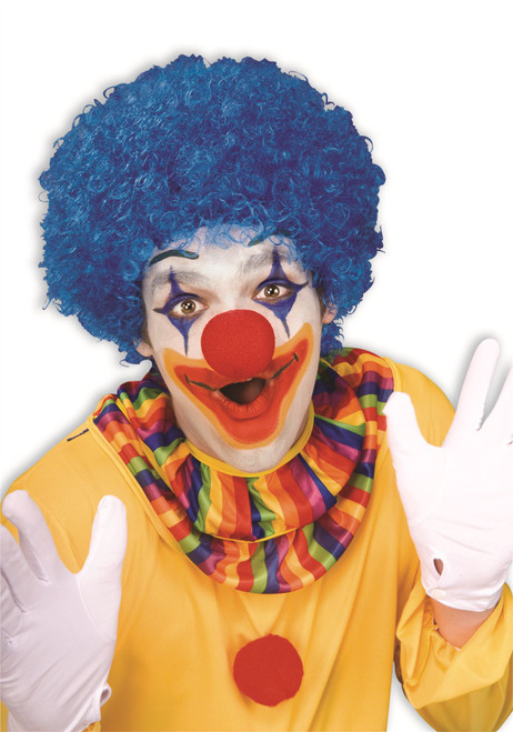 blue Color Team Spirit Clown WIG adult womens mens Halloween costume accessory