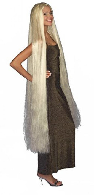 Lady Godiva Wig 60 inches Medieval adult womens Halloween costume accessory