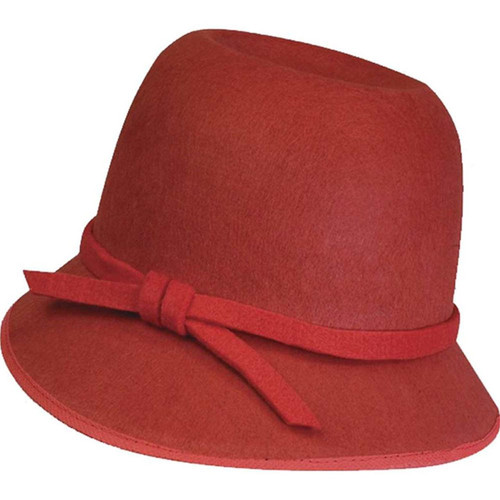 red  Flapper Cloche Hat 20's decades adult womens Halloween costume accessory