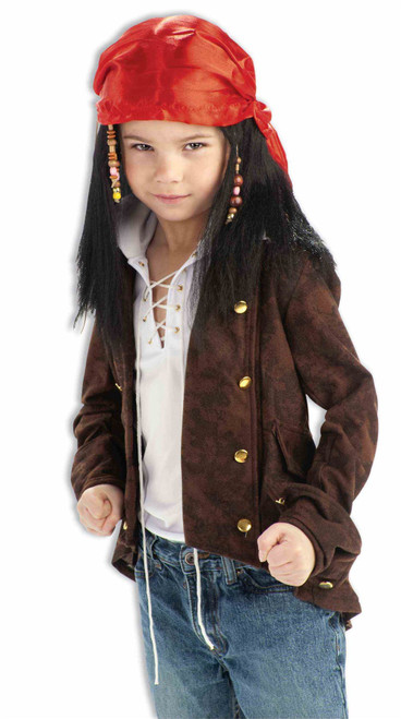 Pirates of the Carribean wig scarf kids boys Halloween costume accessory