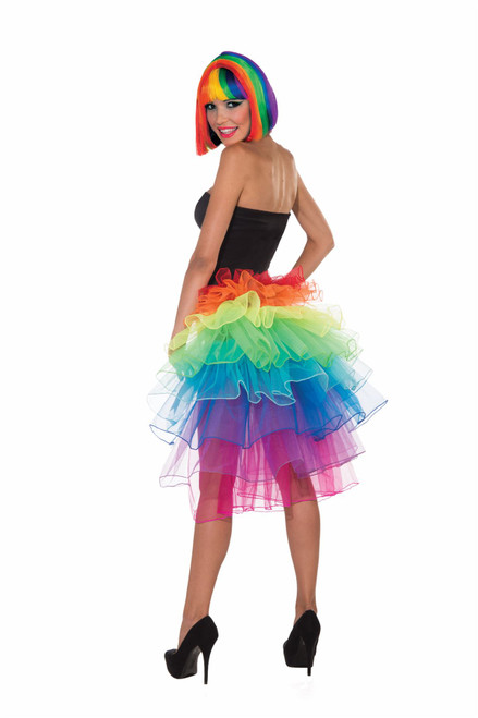 Rainbow Bustle Tutu adult womens mens Halloween costume