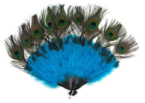 Peacock Tail Fan accessory Mardi Gras Halloween Masquerade costume accessory