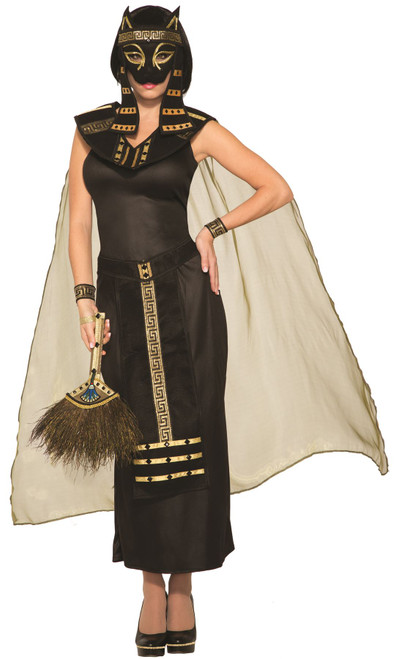 Mythical Creatures Bastet Egyptian Cat Goddess Women's Adult Halloween Costume Standard Size