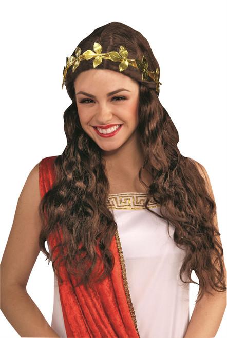 Golden Leaf Headband Grecian Roman adult womens costume accessory