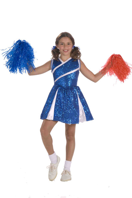 blue Sassy Cheerleader kids girls Halloween costume