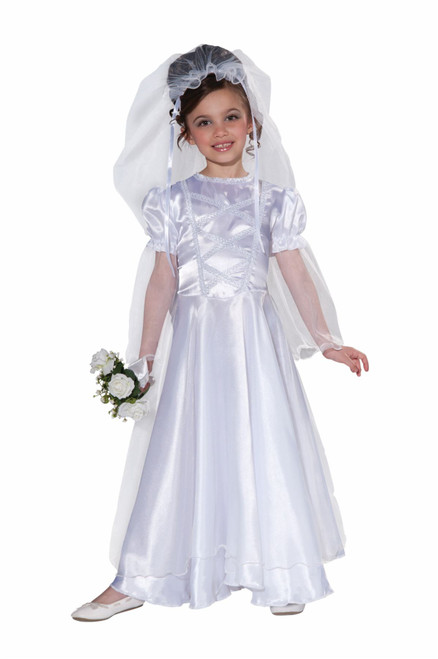 Wedding Belle Dress Bride kids girls Halloween costume