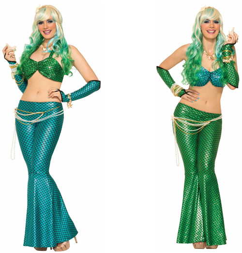 Mermaid Leggings adult womens Halloween costume accessory