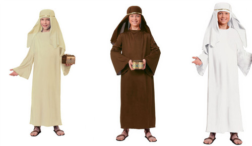 Kids  Wiseman Costume Robe & Headpiece