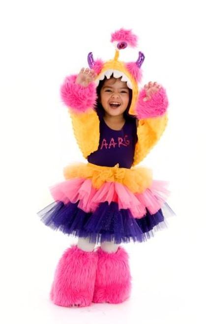 purple FURRY MONSTER monstar pop star tutu girls kids halloween costume L / XL