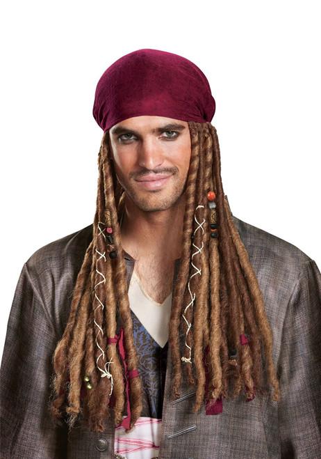 Adult Potc5 Jack Sparrow Bandana W/Dreads (no hat)